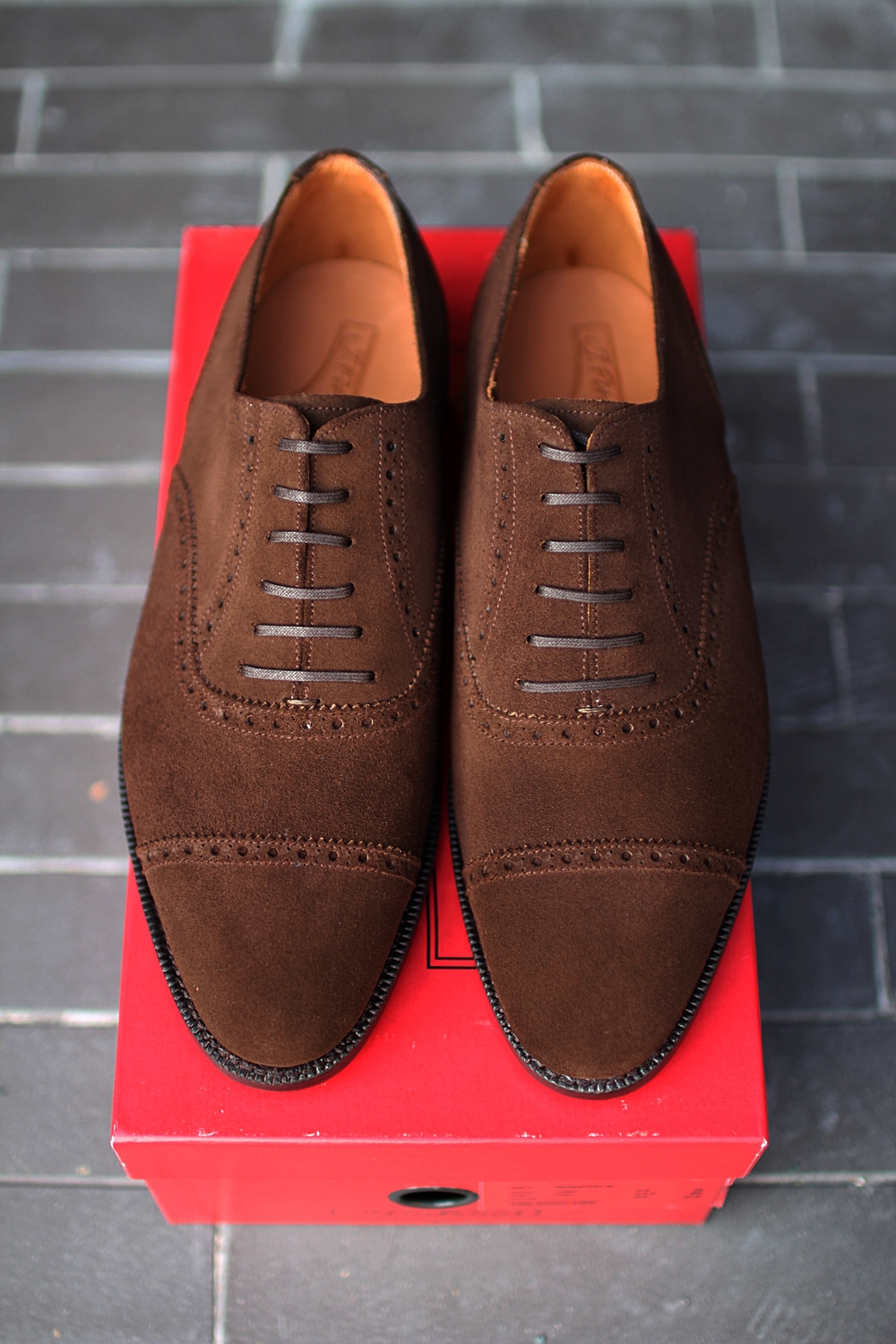 Straight tip Dark brown suede REDMOND3J.fitz patrick(제이피츠패트릭)
