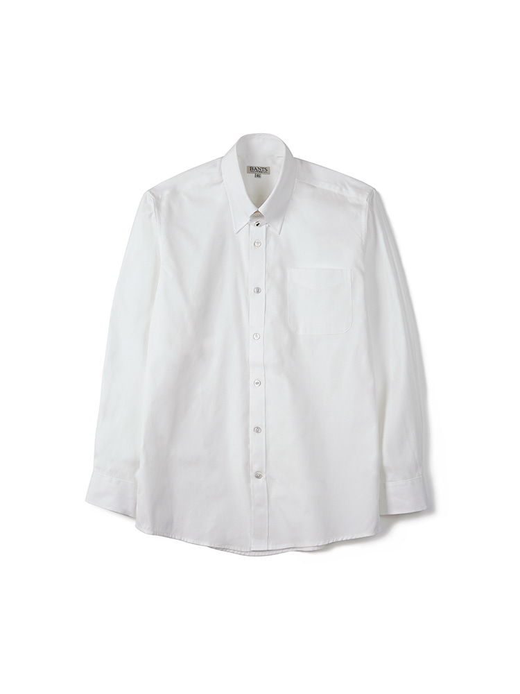 BTS Solid Oxford Tab Collar Shirt - WhiteBANTS(반츠)
