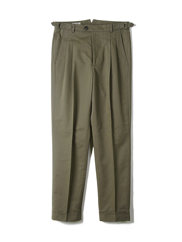 BANTS BTS Cotton Two-tuck Pants Olive DrabBANTS(반츠)