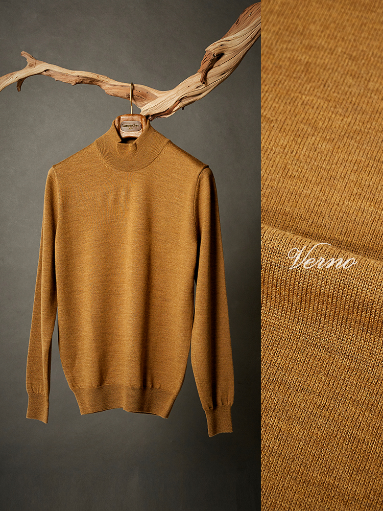 Mock-neck knit No.2 Golden YellowVERNO(베르노)