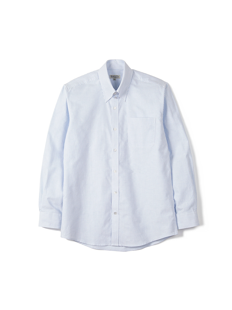 BTS Stripe Oxford Tab Collar Shirt - SkyblueBANTS(반츠)