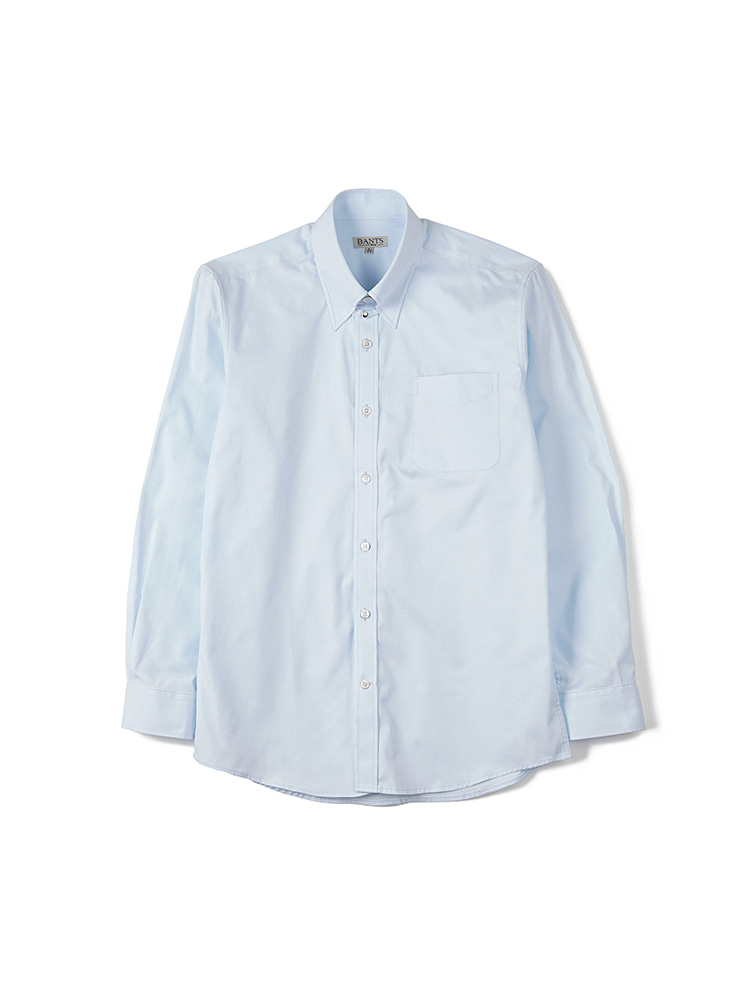 BTS Solid Oxford Tab Collar Shirt - SkyblueBANTS(반츠)