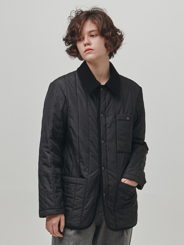 Extend Quilted Jacket (Black) ESFAI(에스파이)