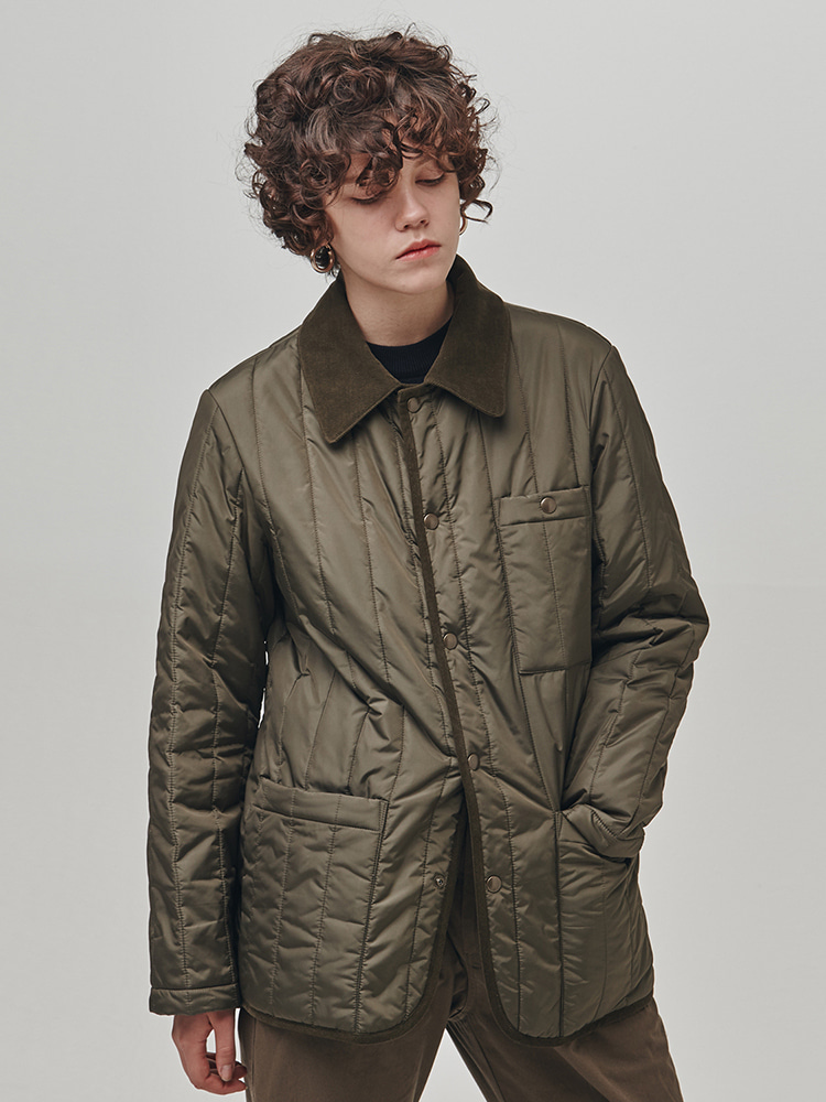 Extend Quilted Jacket (Khaki)ESFAI(에스파이)