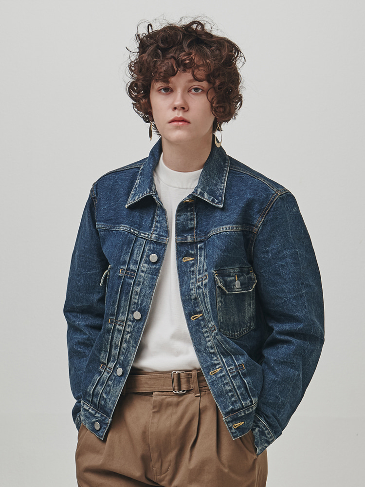 O3' Washed Denim Jacket (BLUE)ESFAI(에스파이)