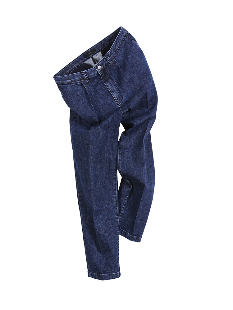 WIDE TAPERED DENIM PANTS WASHEDOLDBē(올드비)