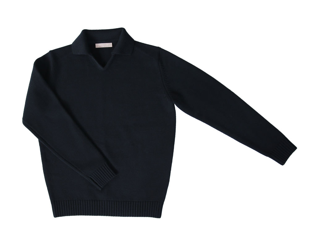 V-collar knit_blackIOLO(이올로)