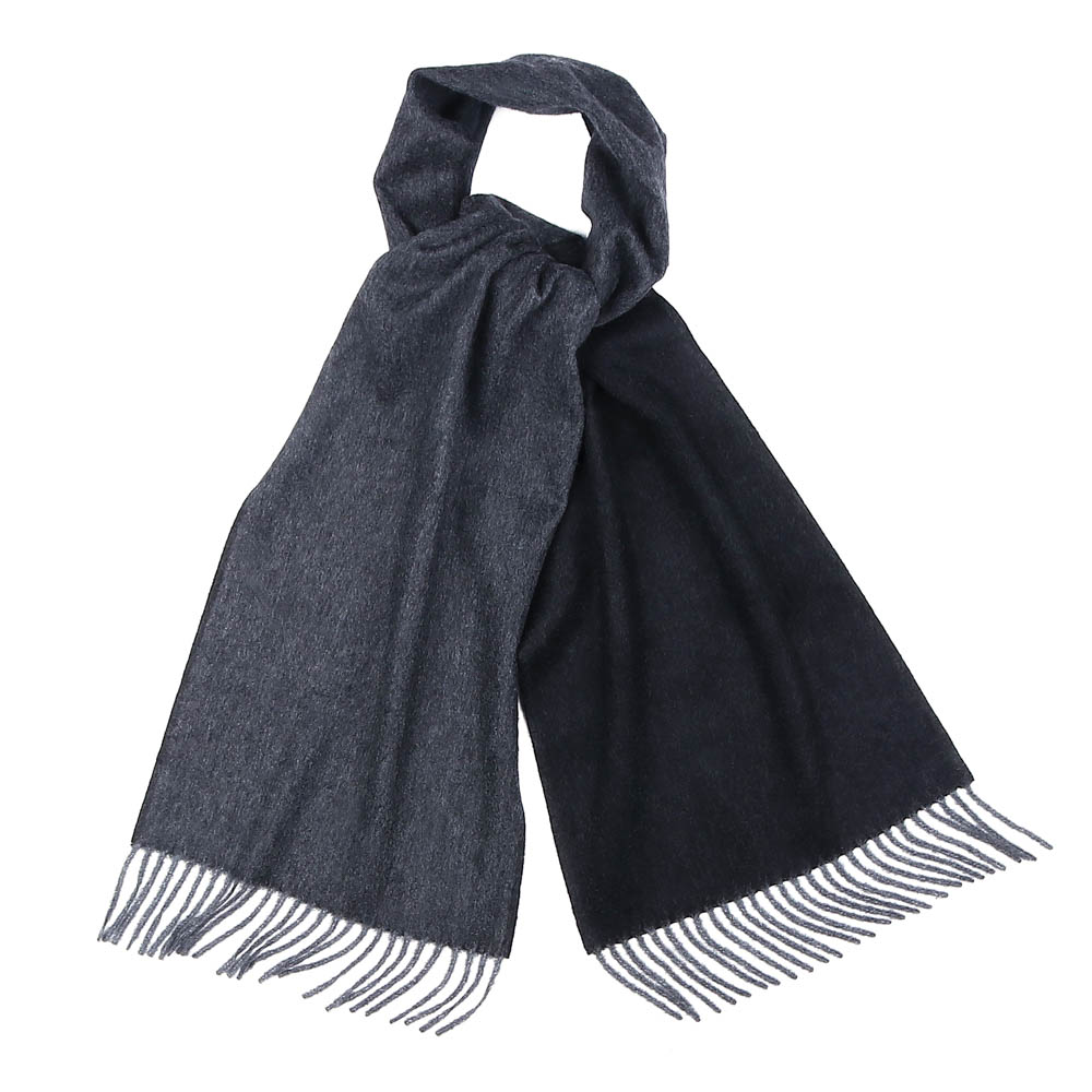 CHARCOAL&GREY REVERSIBLE CASHMERE SCARFVICTOR&ALBERT(빅터앤알버트)