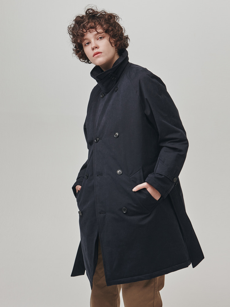 18FW Warming Robe Padding Coat Navy ColorESFAI(에스파이)