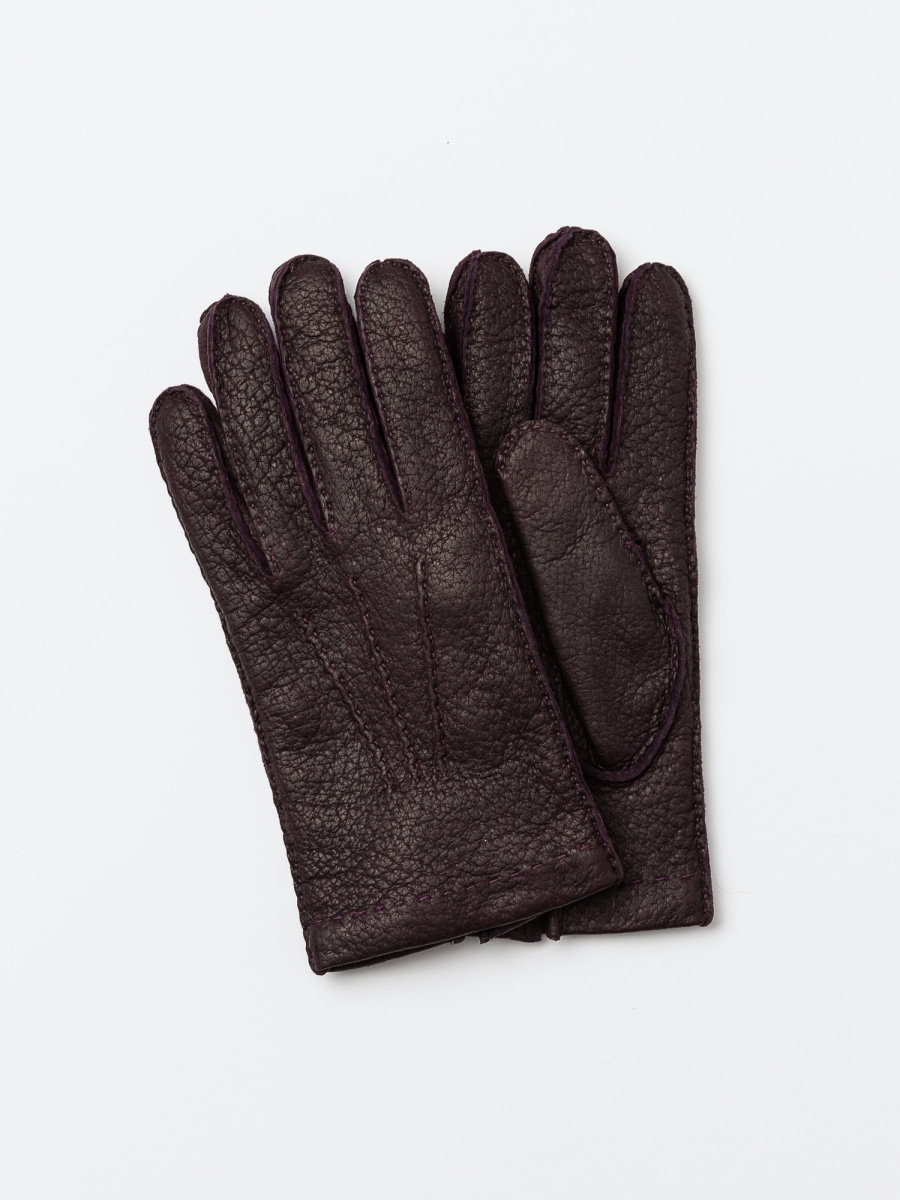 omega gloves Peccary deep purple (남성용)오메가글러브