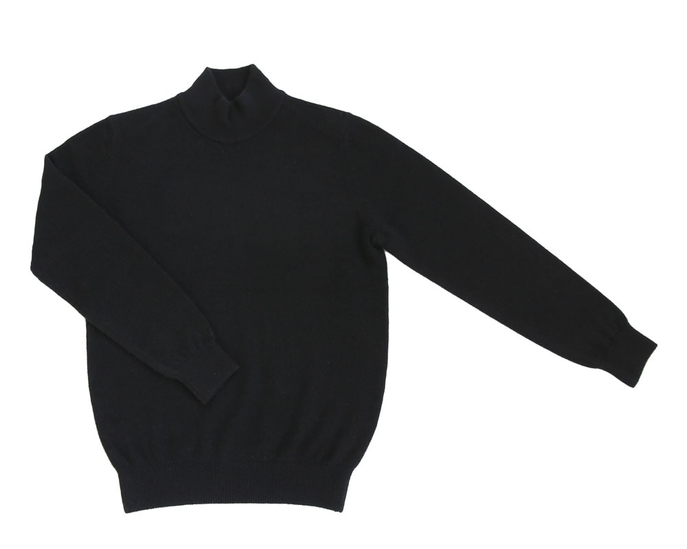 Soft Cashmere mock neck_BlackIOLO(이올로)