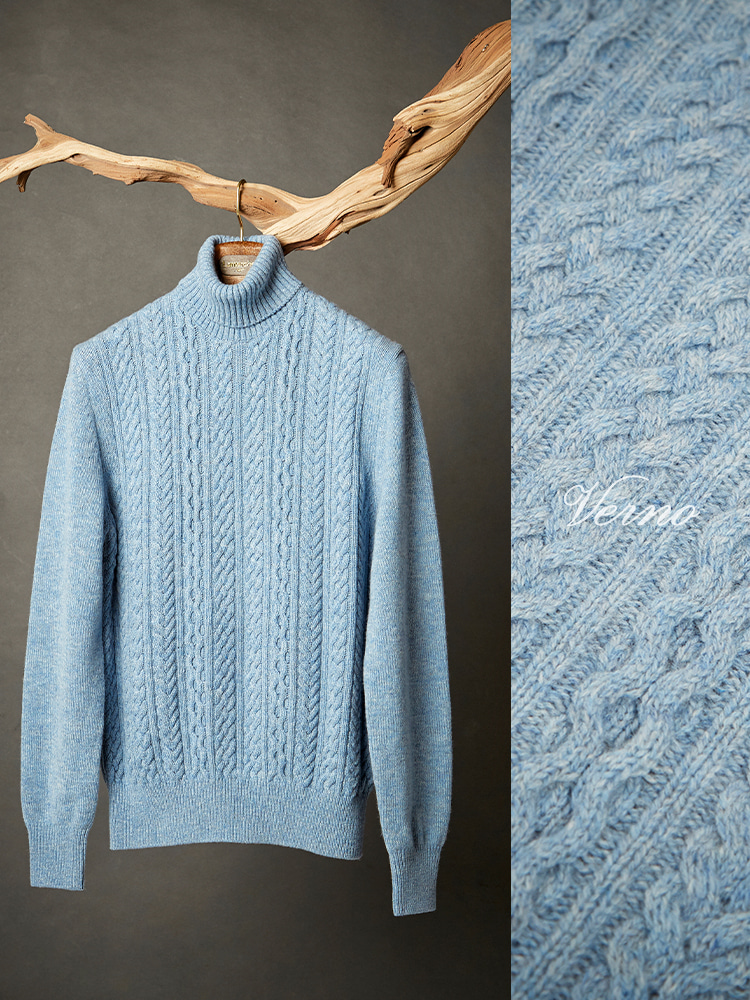 calble turtleneck knit skyblueVERNO(베르노)