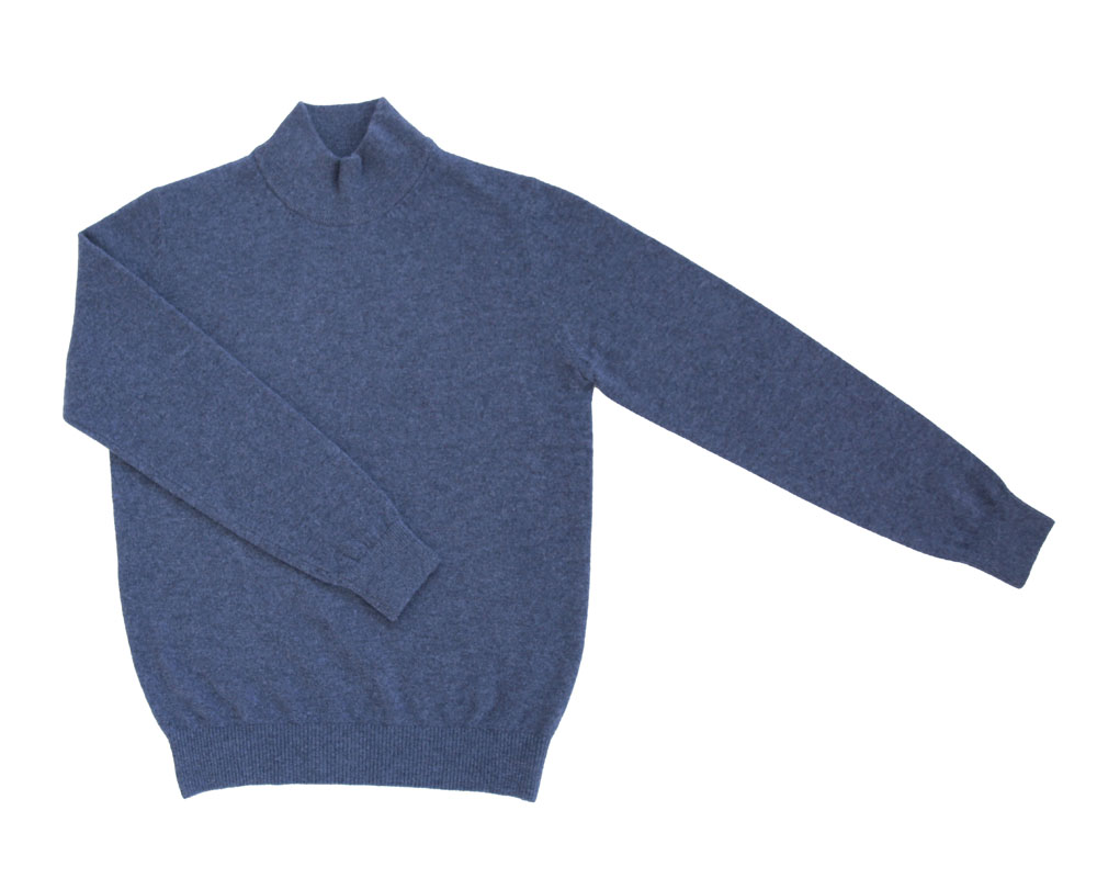 Soft Cashmere_Blue mock neck IOLO(이올로)