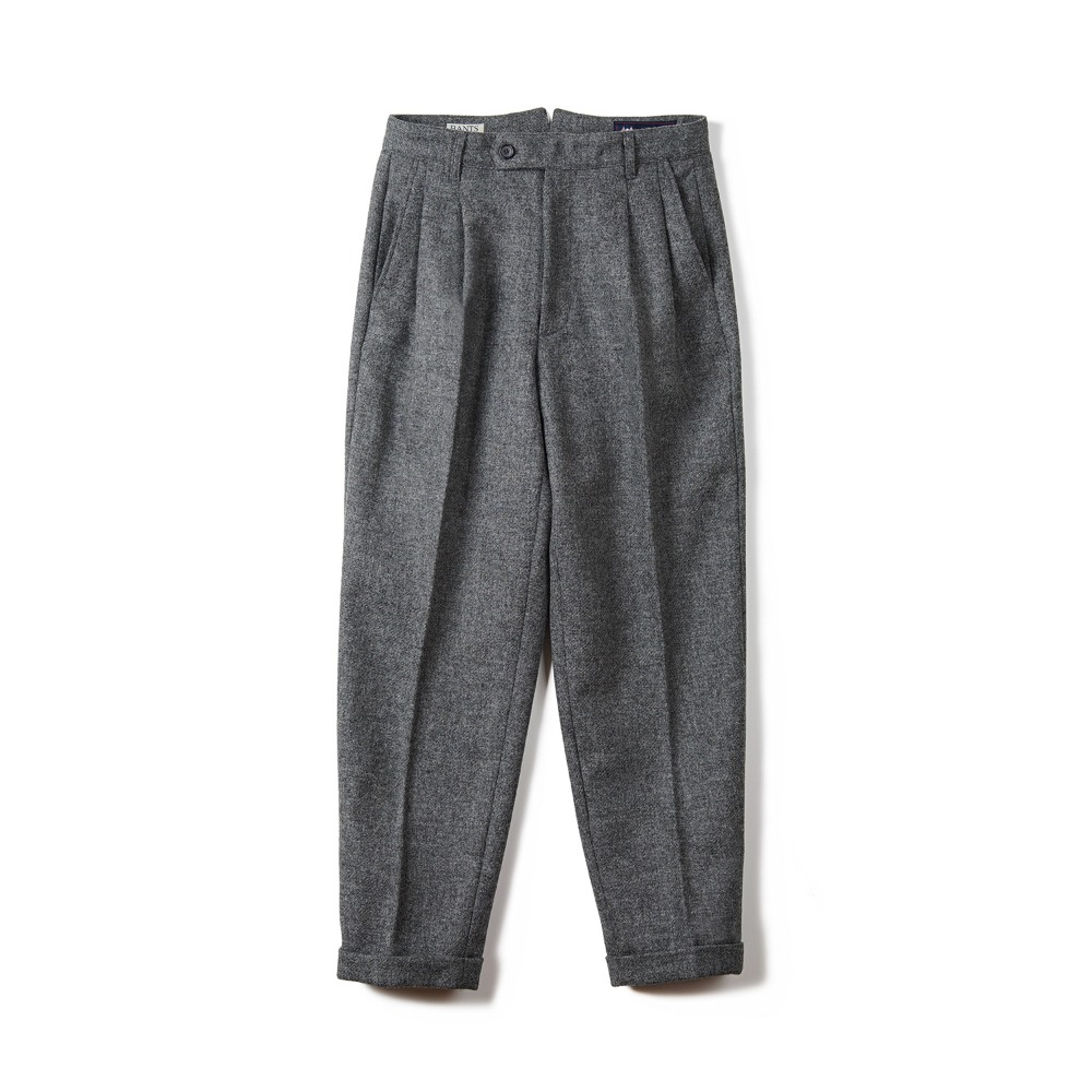 BTS Tweed Wool Two-tuck Pants - GreyBANTS(반츠)