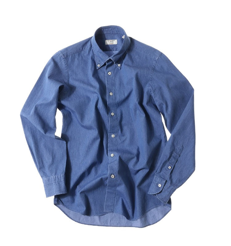 DENIM shirts mid denimPRODE SHIRT(프로드셔츠)