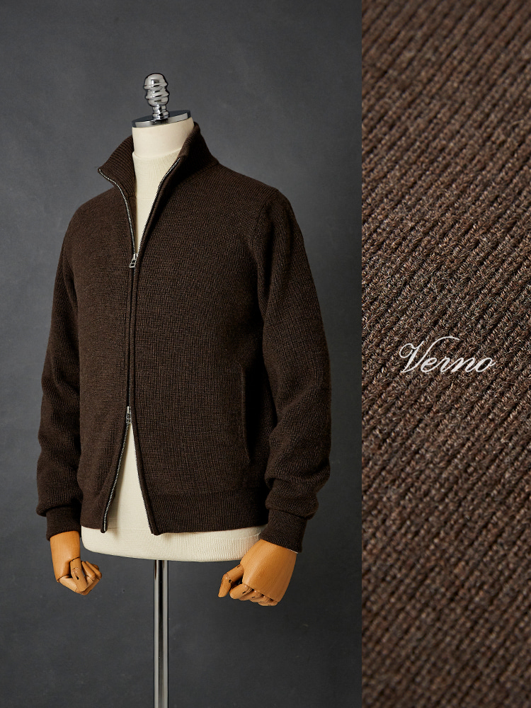 2way zip-up knit_BrownVERNO(베르노)