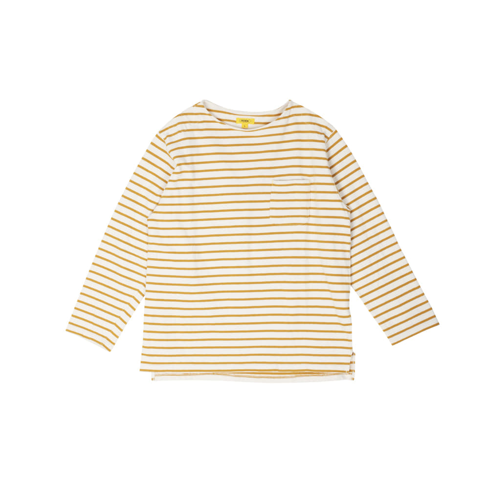 POP STRIPED L/S TEE [YELLOW]더레스큐(THERESQ)