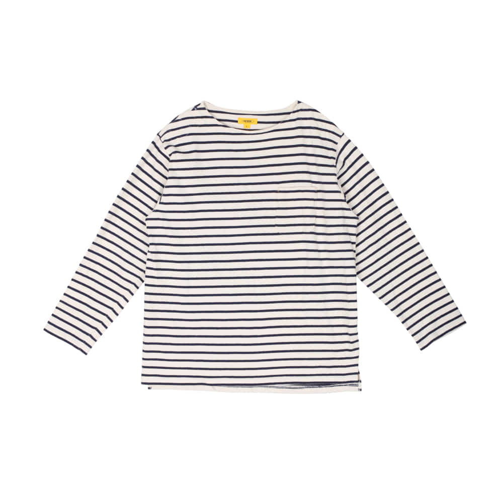 POP STRIPED L/S TEE [NAVY]더레스큐(THERESQ)