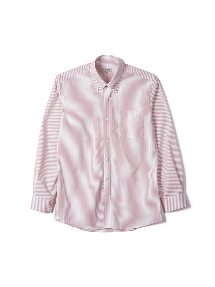 FLB Stripe Broadcloth B.D Shirt - PinkBANTS(반츠)
