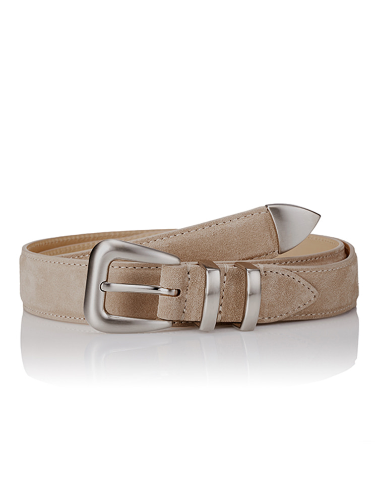세비지(savage)110 Suede Belt - Beige