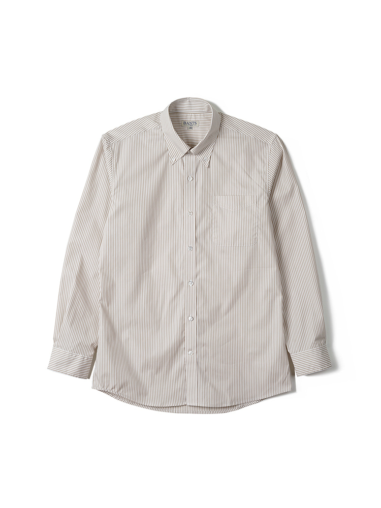 FLB Stripe Broadcloth B.D Shirt - BeigeBANTS(반츠)
