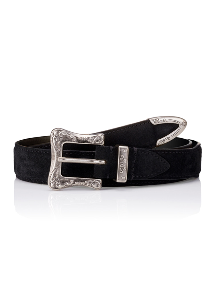 세비지(savage)120 Suede Belt - Black