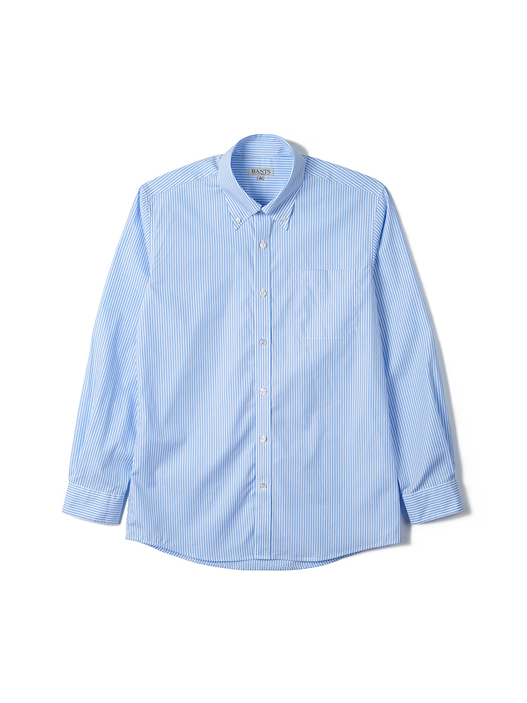 FLB Stripe Broadcloth B.D Shirt - SaxBANTS(반츠)