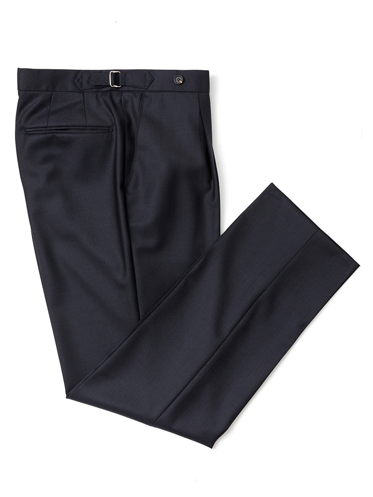 에스타도(ESTADO)Barrington Wool pants - Navy (one pleats)