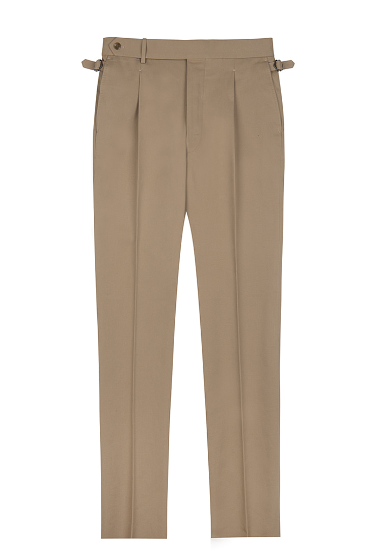 ATELIER DI PANTALONI (MADE IN JAPAN )KURABO JAPAN 20'S 288g COTTON TWILL BELTLESS PANTSil fratello(일프라텔로)