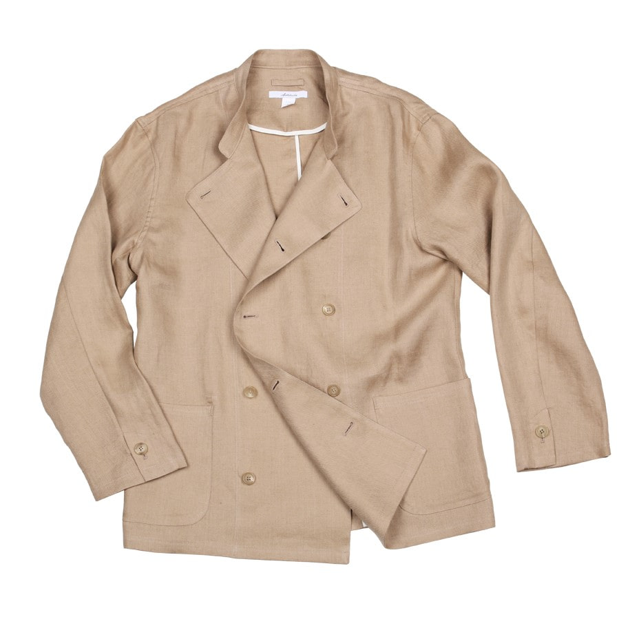 아티튜드(ARTTITUDE)Double Breasted Linen Cock Jacket / Beige