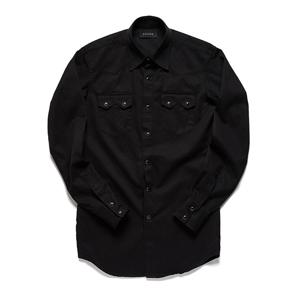 세비지(SAVAGE)Black Western Shirts