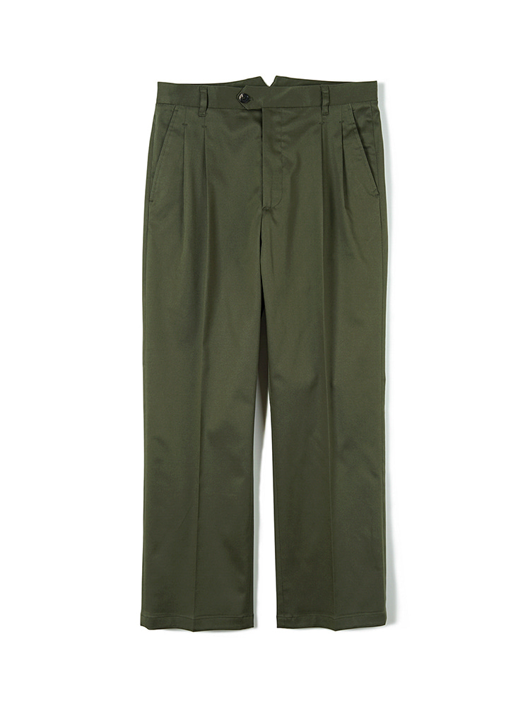 FLB Stretch Twill Wide Chino Pants - OliveBANTS(반츠)
