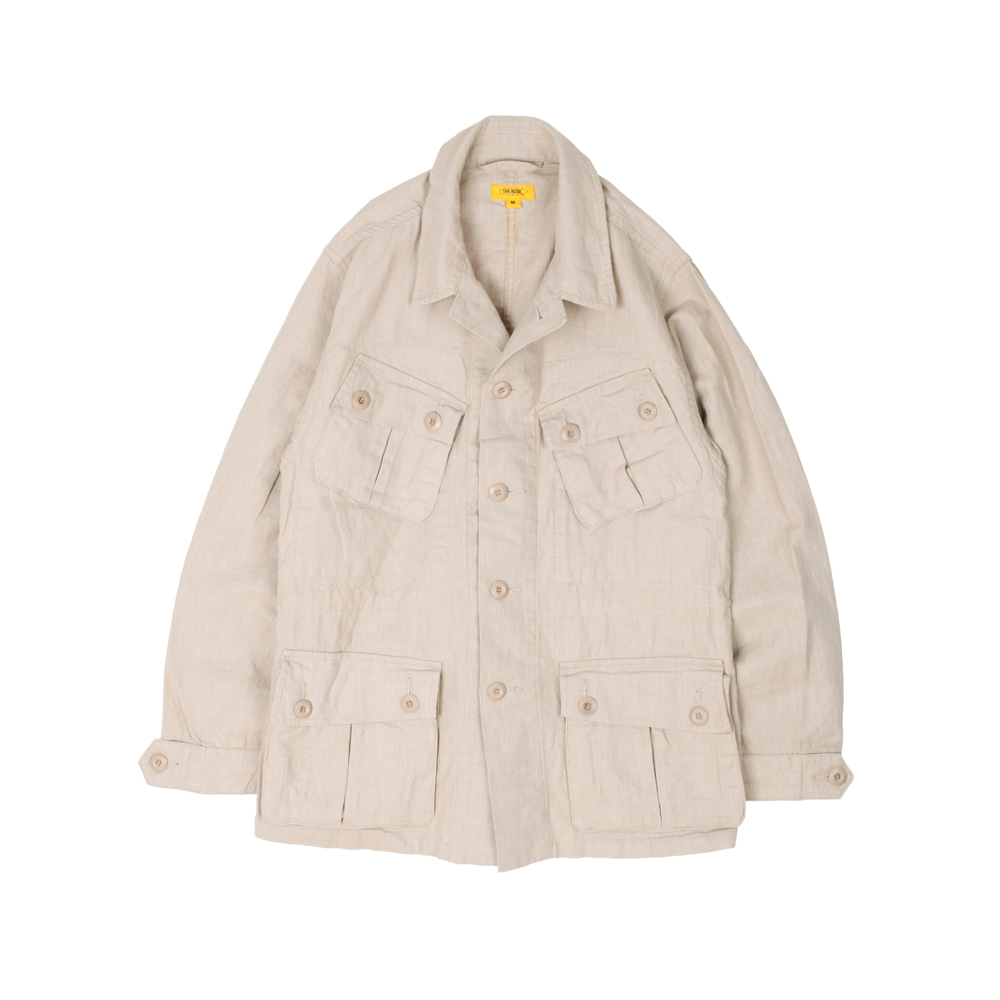 더레스큐(THE RESQ)HAVANA JACKET(LINEN) [L/BEIGE]