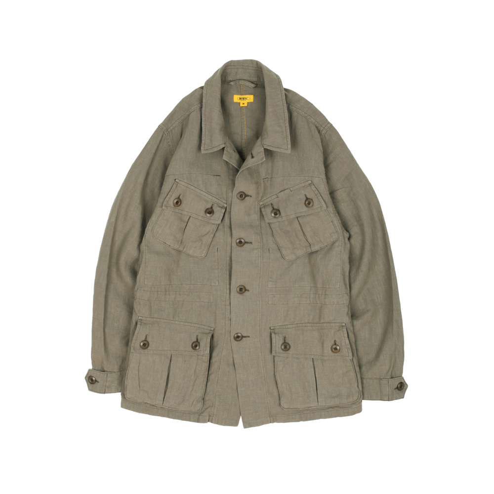 더레스큐(THE RESQ)HAVANA JACKET(LINEN) [KHAKI]