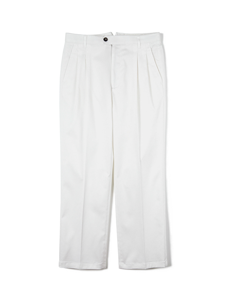 FLB Stretch Twill Wide Chino Pants - WhiteBANTS(반츠)