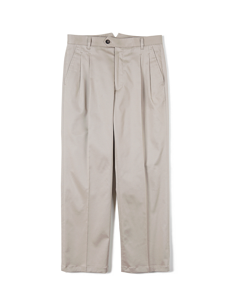 FLB Stretch Twill Wide Chino Pants - BeigeBants(반츠)