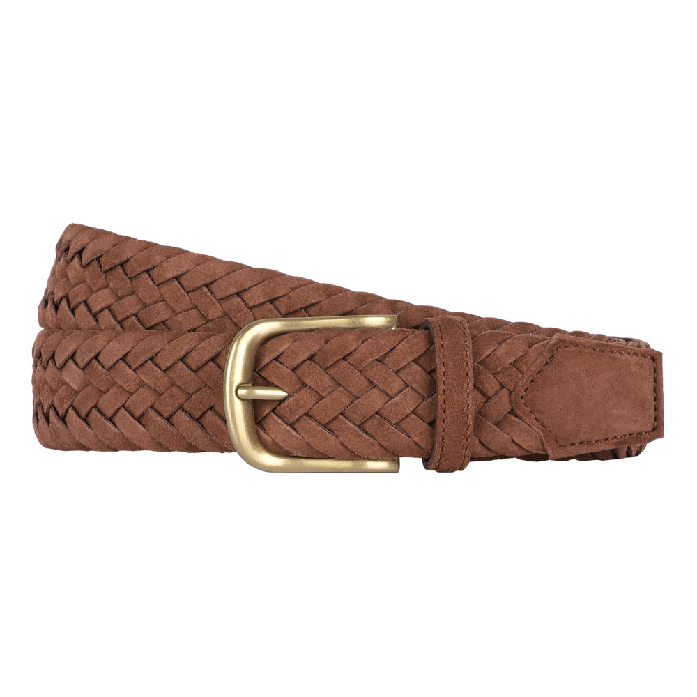 빅터앤알버트(VICTOR&ALBERT)SNUFF BROWN SUEDE BRAIDED BELT