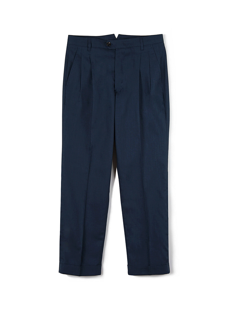 FLB Dry Smashing Two-tuck Pants - NavyBants(반츠)