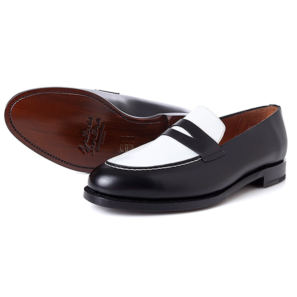 안드레스샌드라(AndresSendra)15686 Spectator loafer box calf negro
