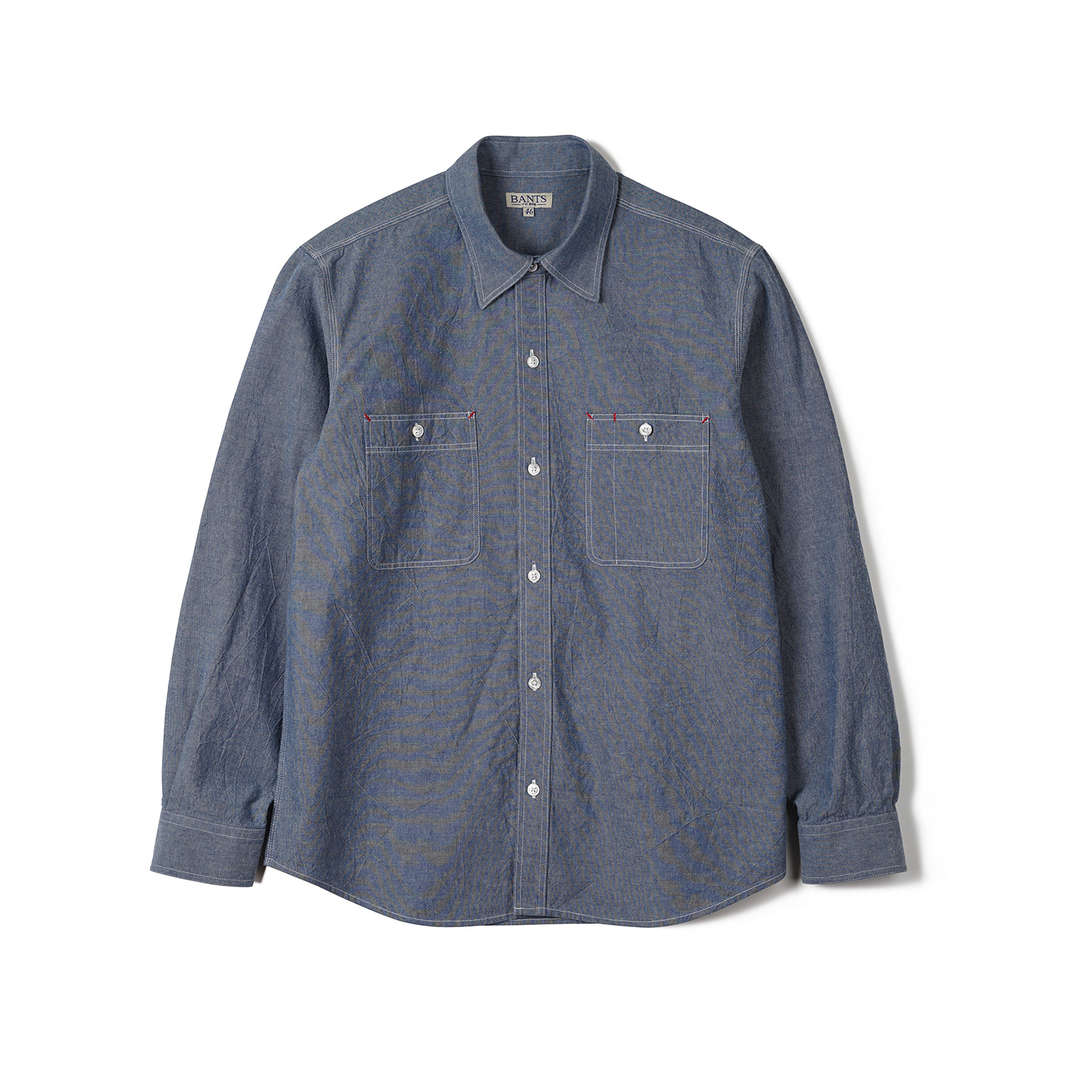 FLB Chambray Cotton Work Shirt - BlueBants(반츠)