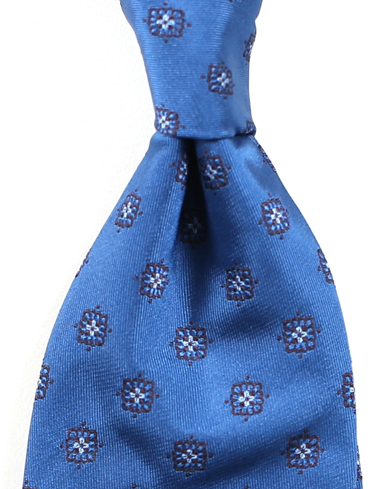 Classical Pattern Silk Necktie_Skyblue&BrownFrui(프루이)