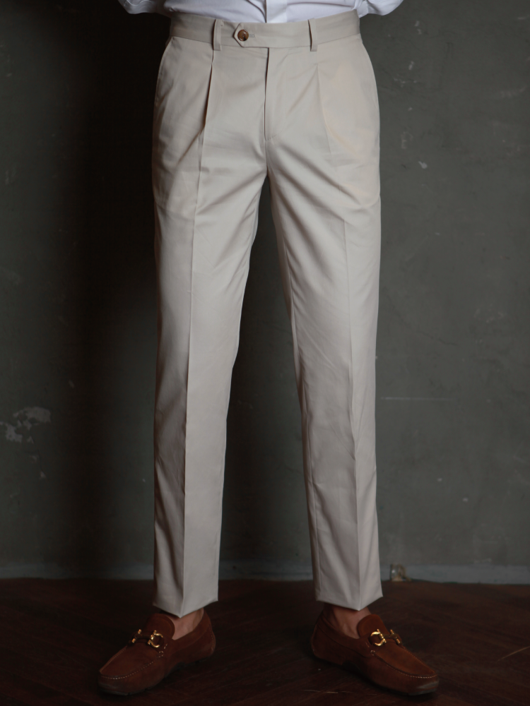 Chino Pants For Wet Day - Light KhakiBellvoro(벨보로)