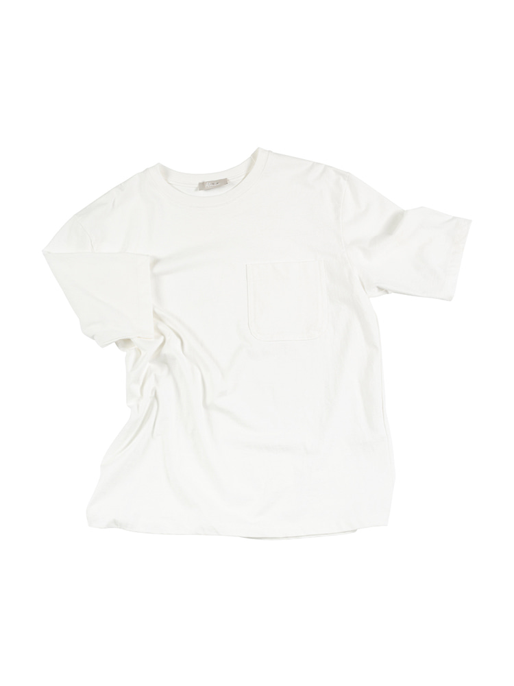 ATTRACTIVE Crew neck Pocket Tee - IvoryOLDbe(올드비)