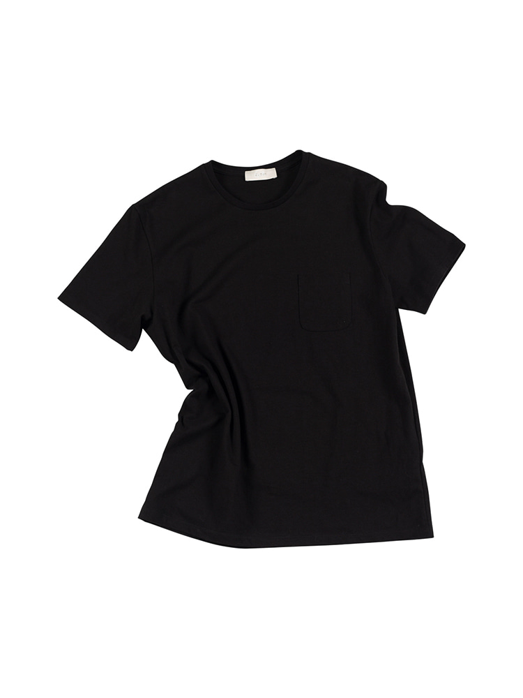 GENTLE 16's Crew Neck Pocket Tee - BlackOLDbe(올드비)
