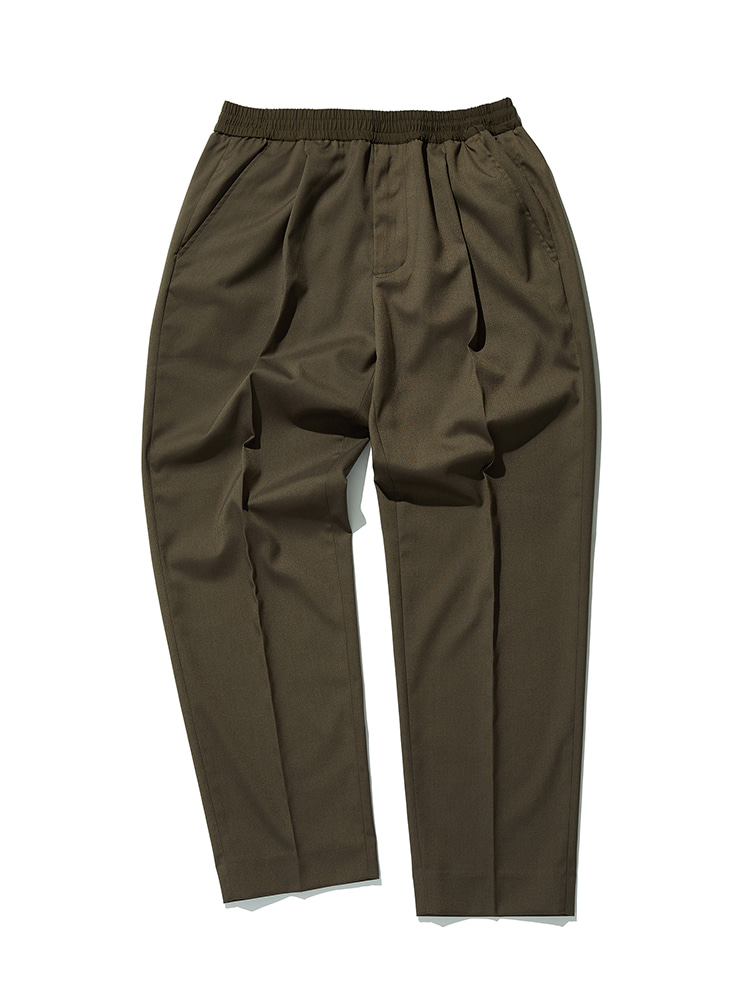 Invisible Drawstring Trousers (Khaki) Esfai(에스파이)