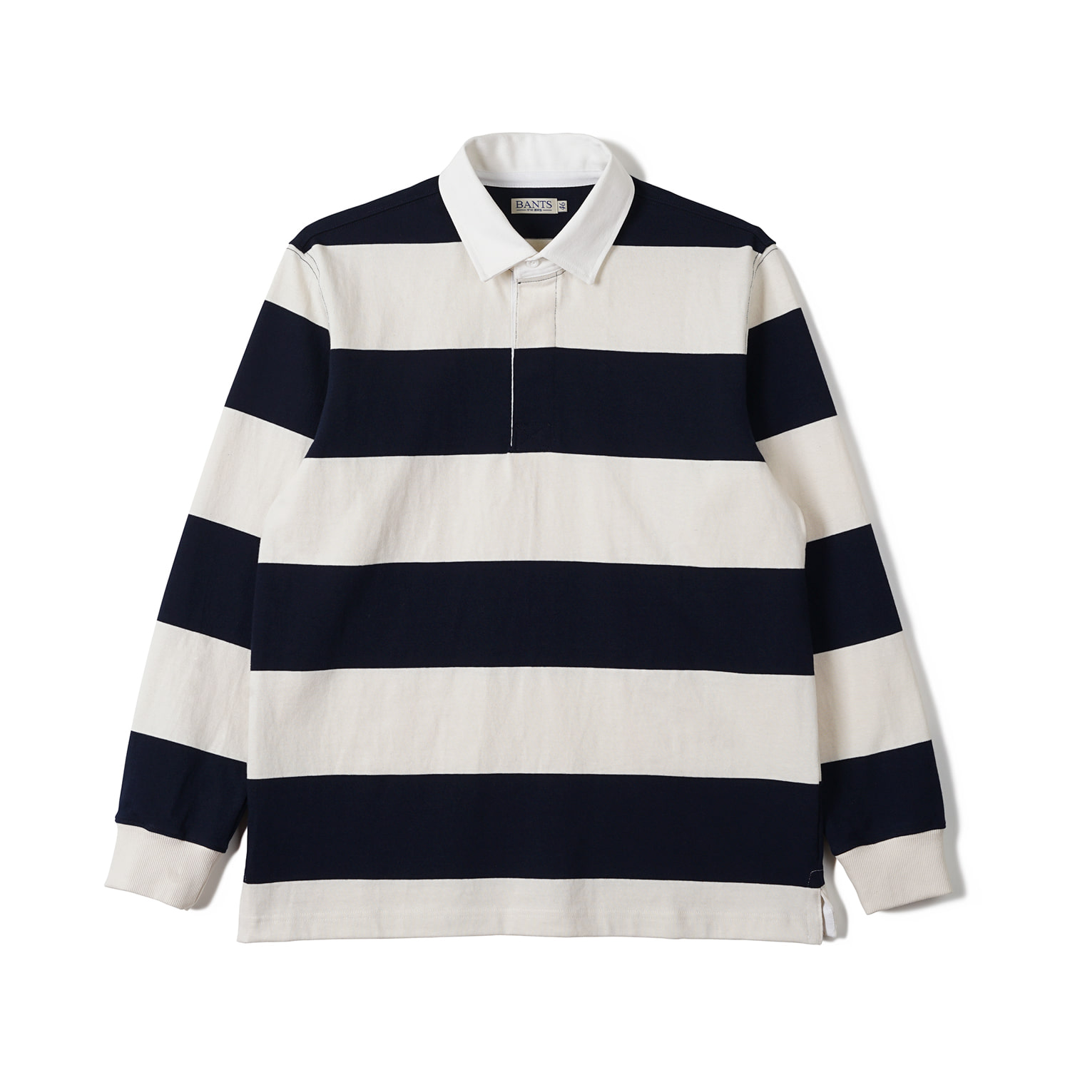 FLB Stripe Cotton Rugby T-shirt Navy x Off WhiteBANTS(반츠)