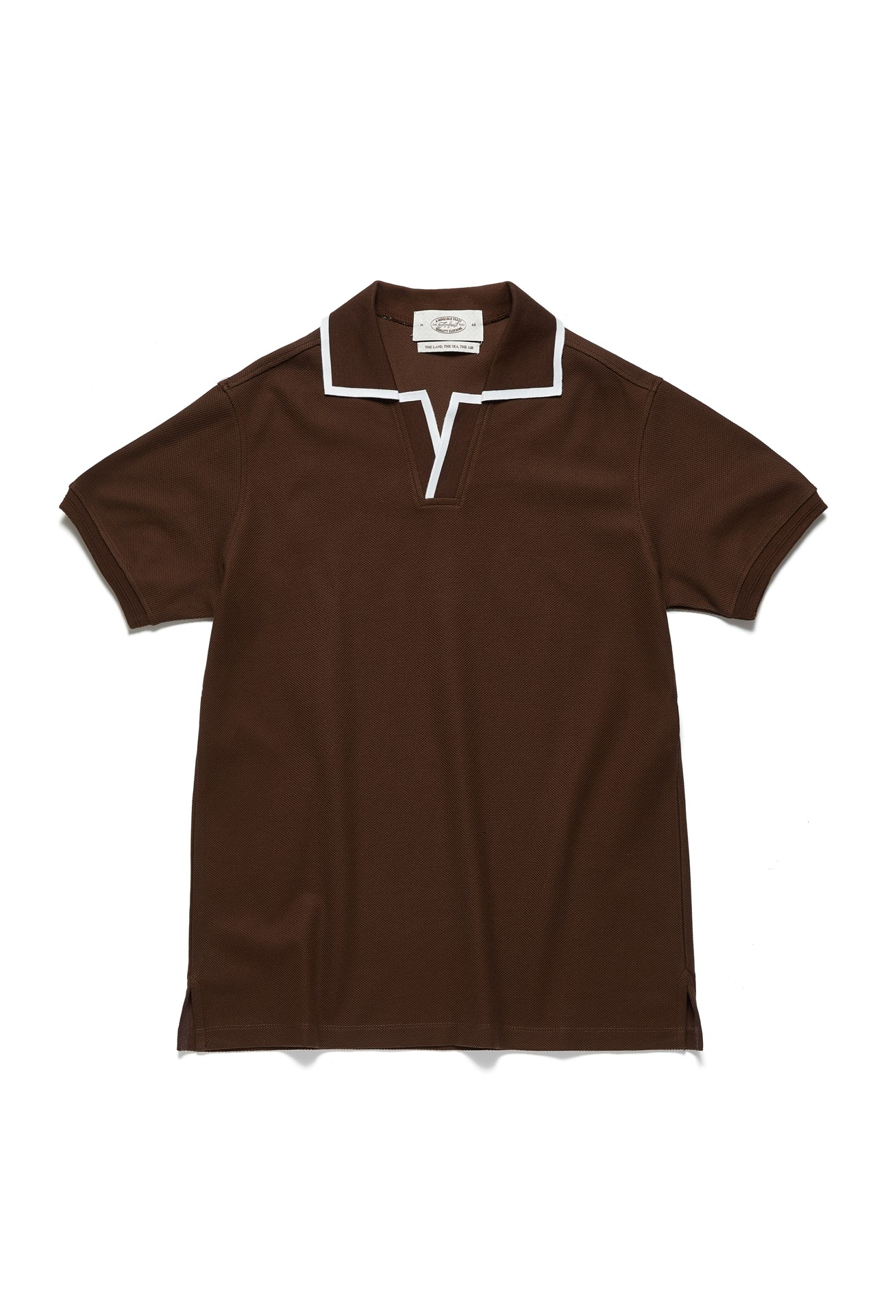 BROWN LINE POLO SHIRTSAmfeast(암피스트)