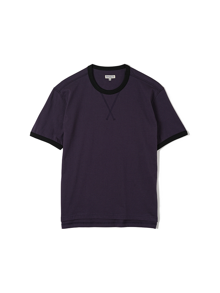FLB Cotton Round Neck T-shirt Half - PurpleBANTS(반츠)