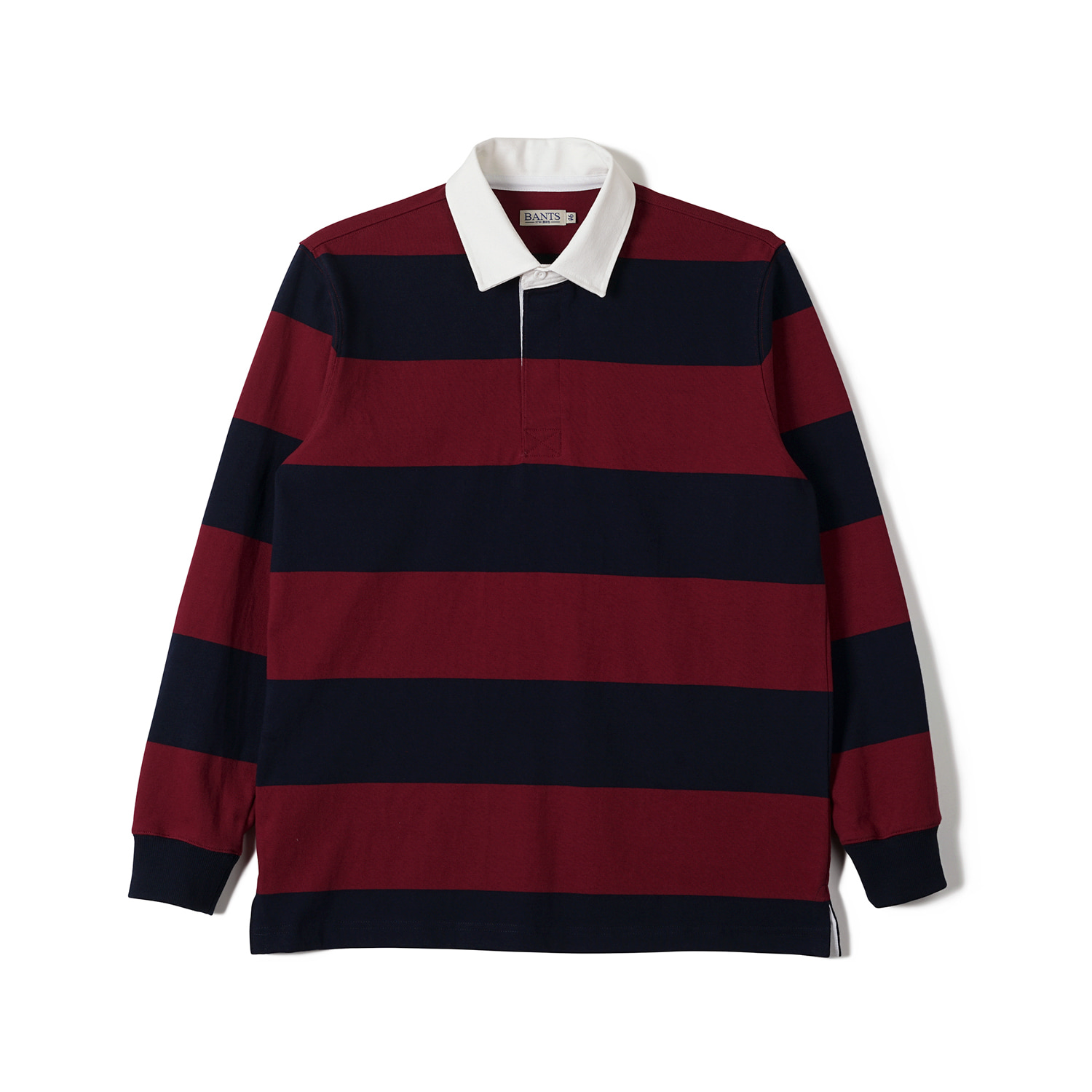 FLB Stripe Cotton Rugby T-shirt Burgundy x NavyBANTS(반츠)