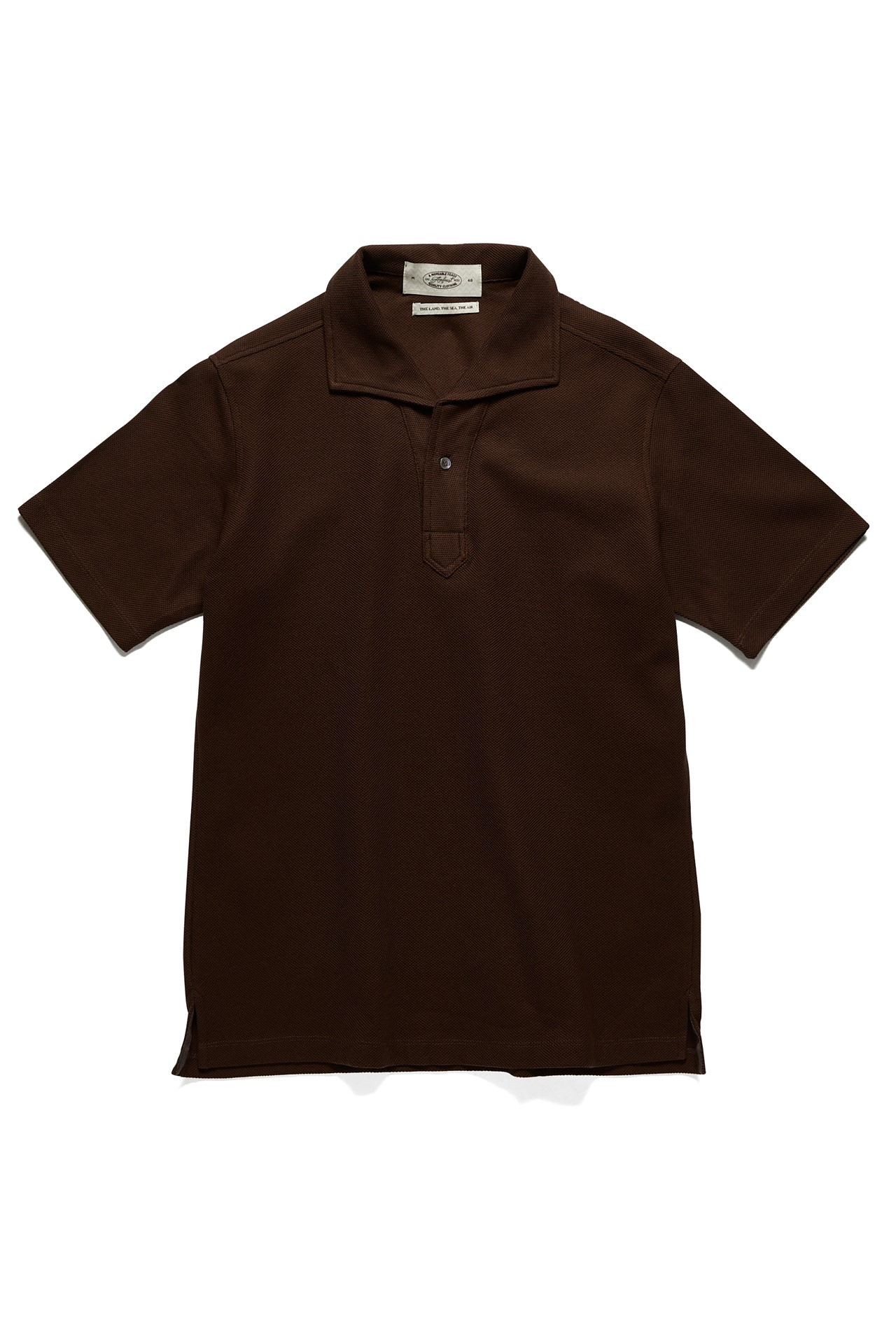 BROWN SIGNATURE ONEPIECE COLLAR POLOAmfeast(암피스트)